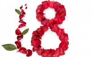 三八妇女节创意数字8