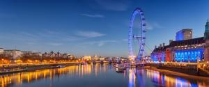 英国伦敦摩天轮风景壁纸