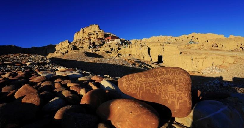 西藏古格遗址风景图片