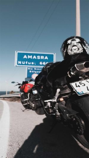 超酷摩托机车摄影高清手机壁纸