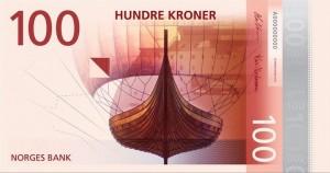 挪威国家银行新设计的挪威克朗