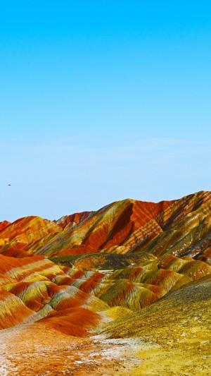 七彩丹霞地貌绝美自然风景手机壁纸
