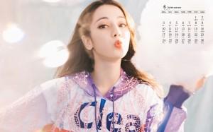 2019年6月迪丽热巴俏皮时尚性感日历壁纸