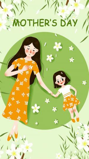 母亲节的图片,可爱表情卡通唯美