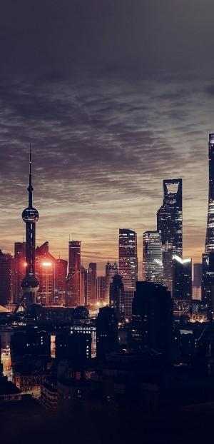 大都市上海的上空