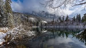 瑞士壮丽雪景高清图片