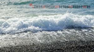 2019年12月清新海浪美景高清日历壁纸