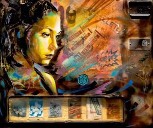 墙壁涂鸦图案大全,卡通立体头像3D效果涂鸦