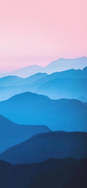 朦胧梦幻湖光山色风景手机壁纸