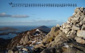 2020年10月爱尔兰秀美风景日历壁纸