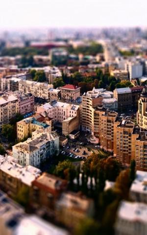 城市一角俯览图