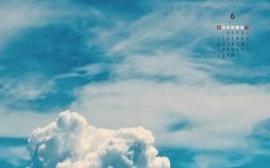 2021年6月清新唯美天空日历壁纸图片