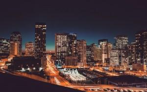 绚烂的城市繁华夜景