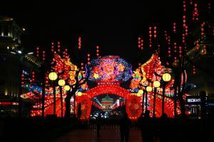 绚丽多彩五彩缤纷的春节灯会图片