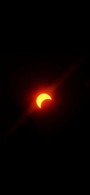 金环日食奇幻景色摄影手机壁纸
