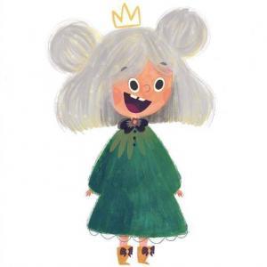 超可爱小女孩头像卡通手绘图片