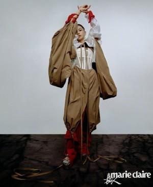 angelababy头纱时尚造型大片写真图片