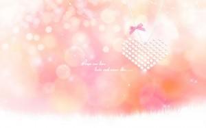 七夕粉色浪漫爱心壁纸