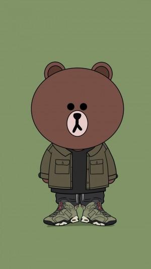 沉稳潮流的可爱小熊