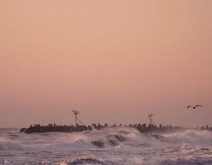 粉色唯美梦幻的大海