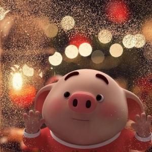 超级可爱的福猪头像图片