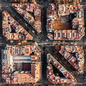 巴塞罗那的航拍图片