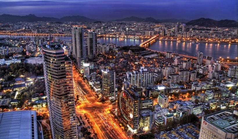韩国首尔夜景写真