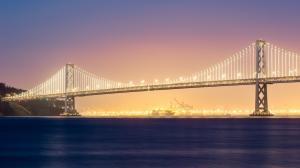 美国旧金山的桥风景壁纸