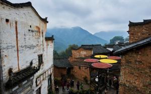 中国最美乡村江西婺源篁岭晒秋高清风景图片