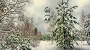 冬至唯美雪景