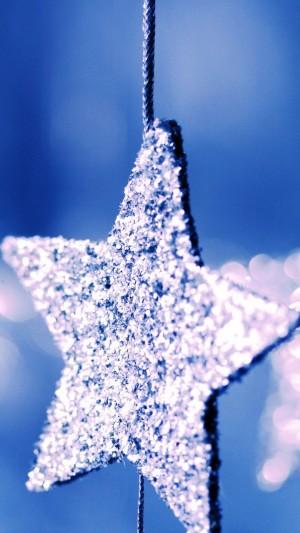 闪闪银光的圣诞星星