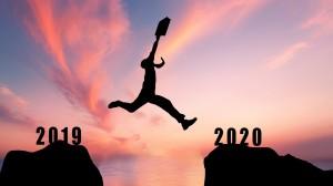 再见2019,你好2020创意图片
