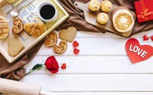 情人节浪漫早餐高清桌面壁纸