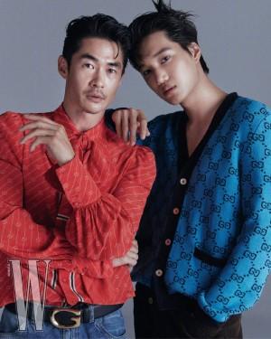 金钟仁裴正南W Korea七月刊Gucci服饰画报图片