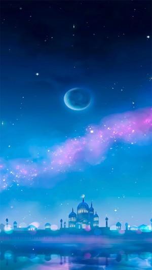 蓝紫色梦幻少女心高清手机壁纸