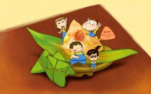 阿u端午节粽子卡通图片