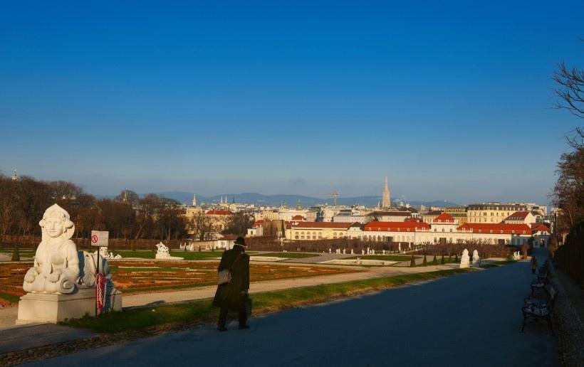 奥地利首都维也纳秋天风景写真