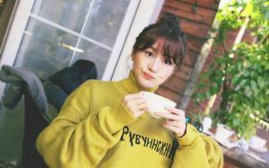 林伊婷抹茶绿针织衫春意盎然图片