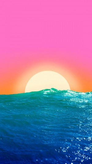 日落下唯美奇幻迷人海景