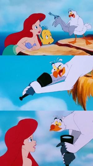 迪士尼公主美人鱼卡通拼接手机壁纸