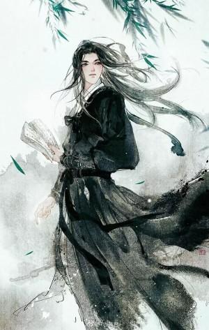 翩翩少年中国风手绘插画图片