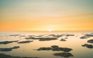 欣賞日出日落的意境美景