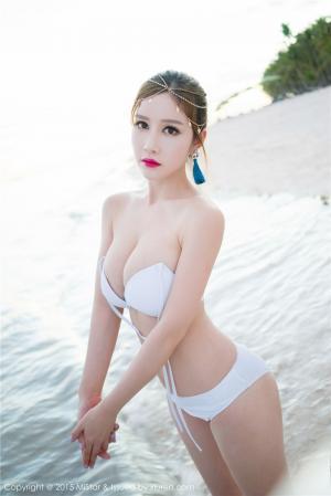 海边性感女神于姬Una比基尼诱惑摄影图片