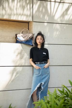 朱颜曼滋牛仔裙休闲时尚写真图片