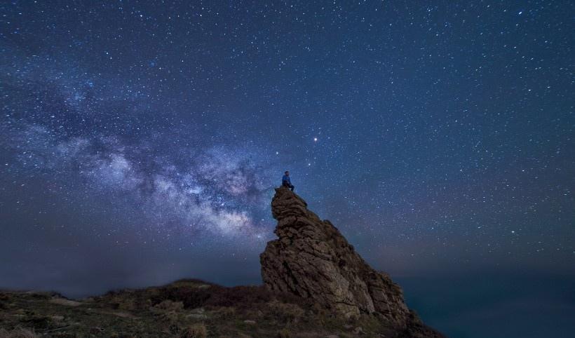 浩瀚的星空银河风景