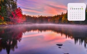 2020年10月绚烂唯美的秋景日历
