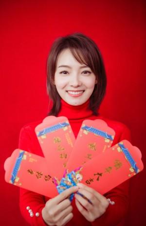 林源甜美喜庆新年写真图片