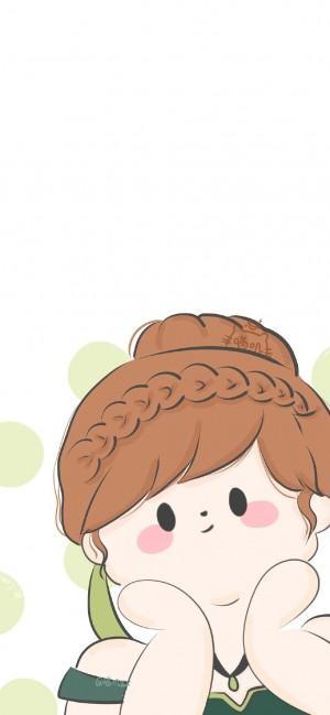 萌系卡通公主手绘手机壁纸