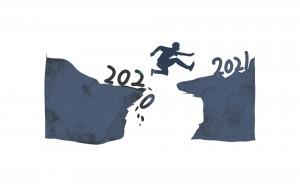 再见2020,你好2021创意跨年图片