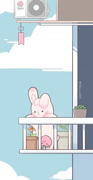 萌系可爱兔兔子手绘壁纸 第二辑